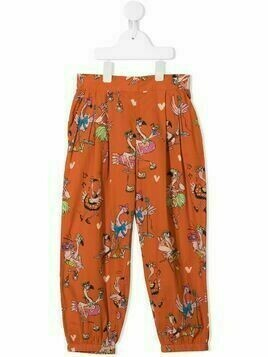 Stella McCartney Kids Flamingo Party print trousers - ORANGE