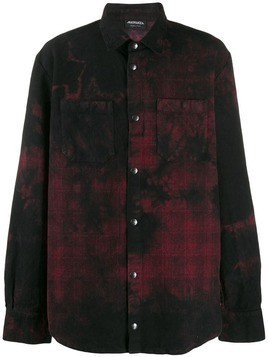 Mauna Kea tie dye checked shirt - Black