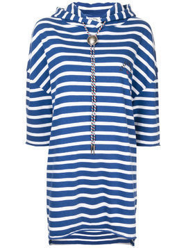 The Upside striped hoodie dress - Blue