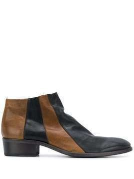 Fiorentini + Baker two tone ankle boots - Black