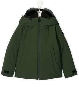 AI Riders on the Storm hooded parka coat - Green