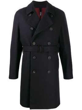 Hevo belted double-breasted coat - Blue