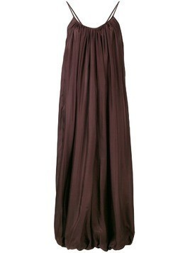 Kalita tapered long dress - Brown