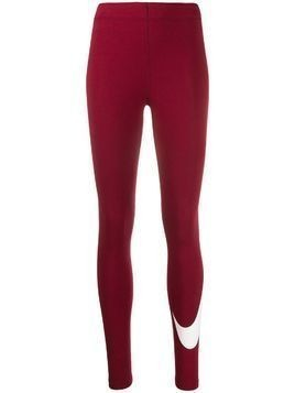 Nike Leg-A-See logo print leggings - Red