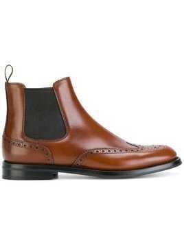 Church's brogue Chelsea boots - Brown