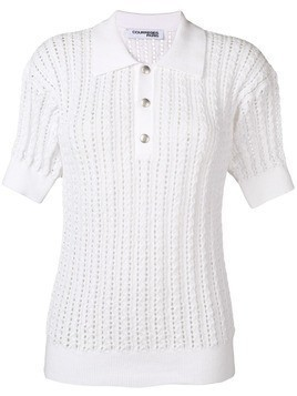 Courrèges knitted top - White