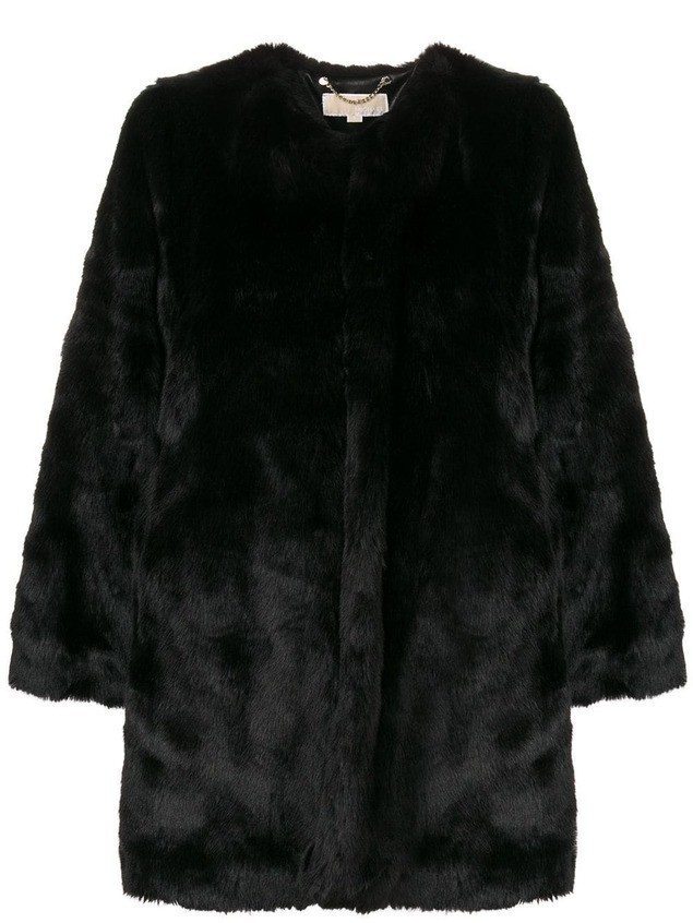 Michael Michael Kors faux fur coat - Black