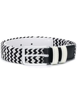 Fay Kids woven bicolour belt - White