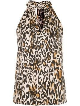 Milly leopard print top - Black