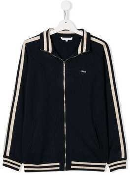 Chloé Kids TEEN track jacket - Blue