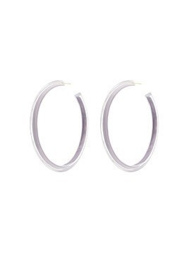 Alison Lou large Jelly hoop earrings - Grey