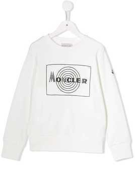 Moncler Kids piped trim sweatshirt - White