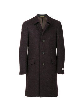 Canali single-breasted fitted coat - Red