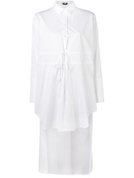Jil Sander Navy high low hem shirt - White