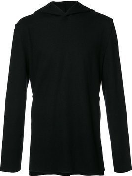 Private Stock V-neck hoodie - Black