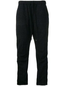 Individual Sentiments woven track trousers - Blue