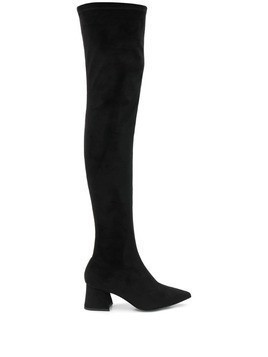 Pollini over the knee heeled boots - Black