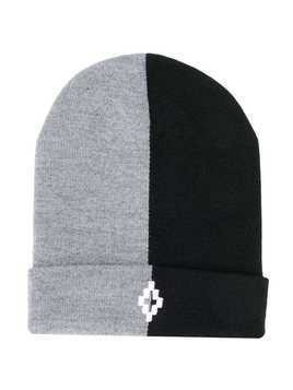 Marcelo Burlon County Of Milan Kids two tone beanie hat - Grey