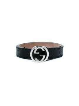 Gucci Kids logo buckle belt - Black