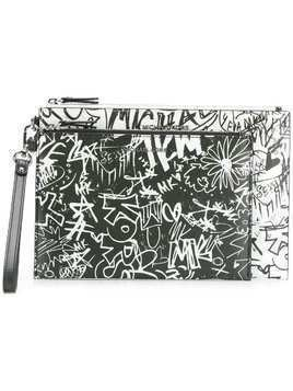 Michael Michael Kors graffiti clutch bag - White