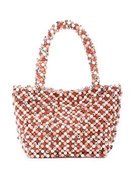 Loeffler Randall beaded tote bag - Pink