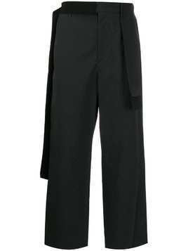 Craig Green draped-panel straight trousers - Black
