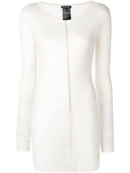 Ann Demeulemeester fine knit mid-length sweater - White