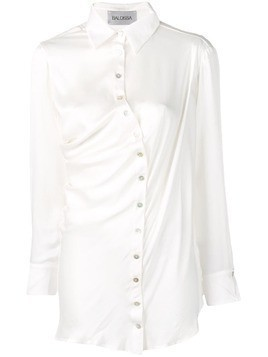 Balossa White Shirt crooked silk shirt