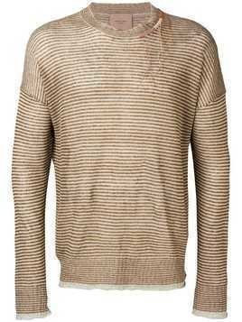 Federico Curradi striped knit sweater - Brown