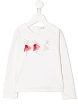 Il Gufo long-sleeved ballerina T-shirt - White