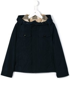 Burberry Kids hooded jacket - Blue
