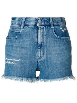 Stella McCartney distressed style shorts - Blue