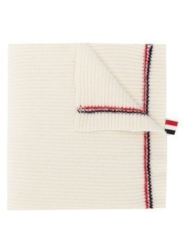 Thom Browne Rwb Tipping Over-Washed Scarf - White
