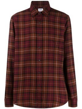 Aspesi checked long sleeved shirt - Red