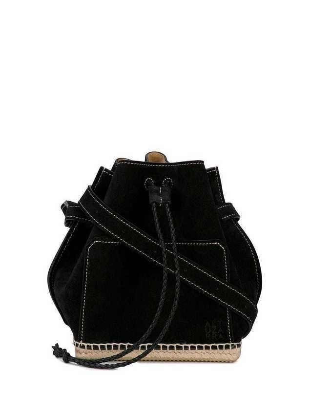 Altuzarra espadrille bucket bag - Black