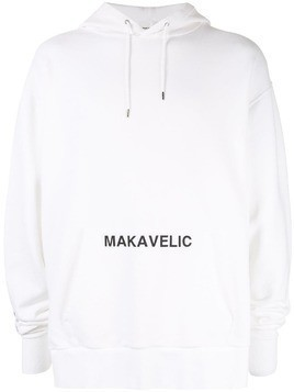 Makavelic Index Finger hoodie - White