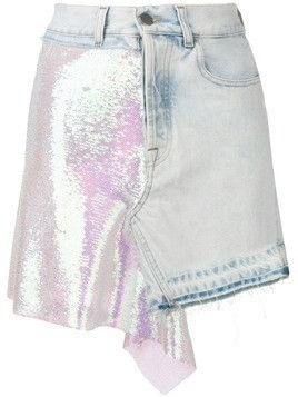 Circus Hotel sequin detail skirt - Blue