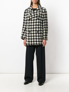 Yohji Yamamoto Vintage Houndstooth double breasted jacket - Multicolour