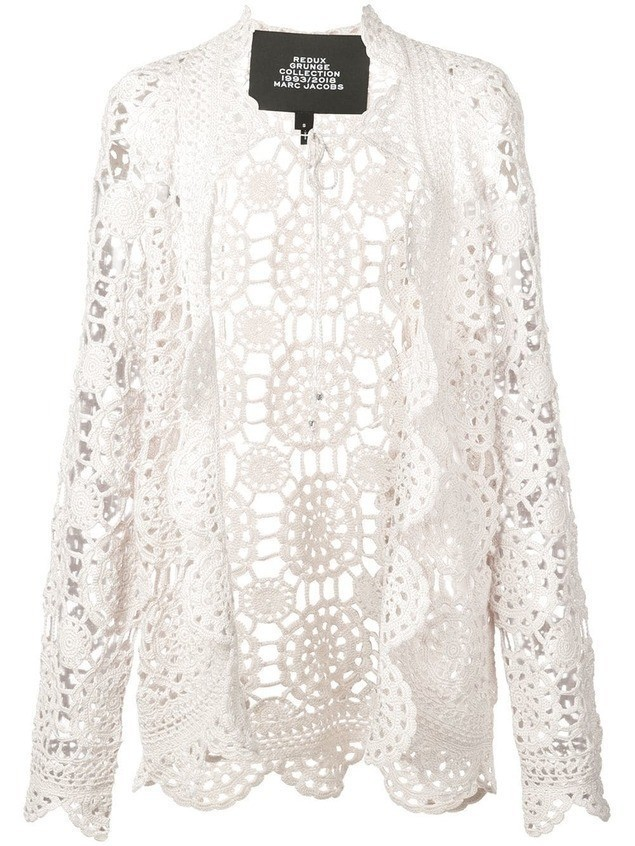 Marc Jacobs crocheted cardigan - White