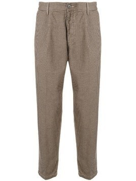 Haikure checked cropped trousers - Multicolour