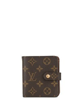 Louis Vuitton Pre-Owned monogram print compact wallet - Brown