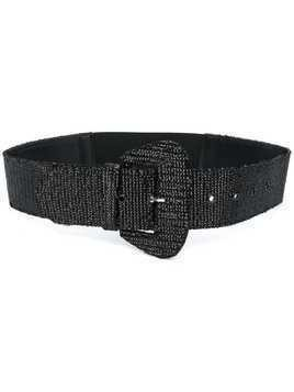 Aniye By sequin embroidered belt - Black