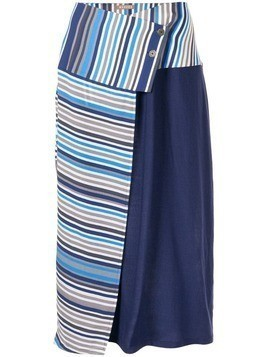 Nehera striped wrap skirt - Blue