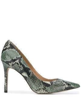 Sam Edelman snakeskin print pointed pumps - Green