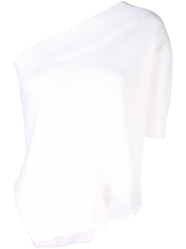 Monse asymmetrical knit top - White