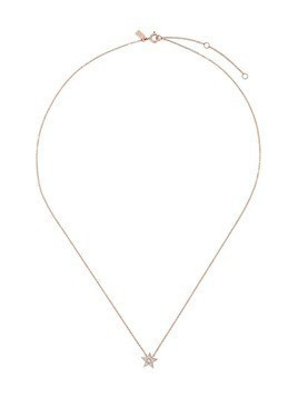 Ef Collection 14kt gold star diamond necklace - Bronze