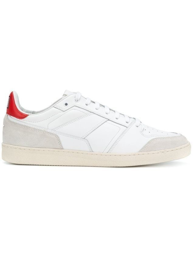 Ami Alexandre Mattiussi Thin Laced Low Trainers - Red