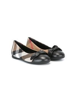 Burberry Kids House Check ballerinas - Nude & Neutrals
