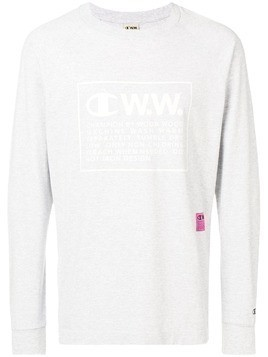 Champion X Wood Wood logo long sleeve T-shirt - Grey
