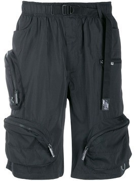 C2h4 utility exterior pockets shorts - Grey